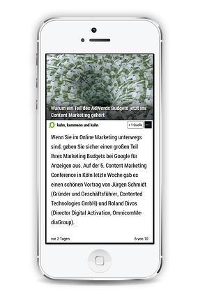 Content Marketing News App