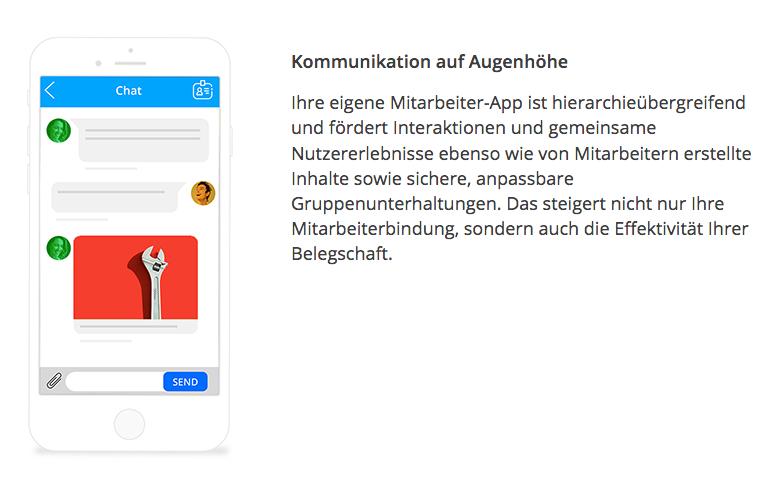 Staffbase ist ein Tool, welches Sie bei der Umsetzung Ihrer Mitarbeiter-App unterstützt.