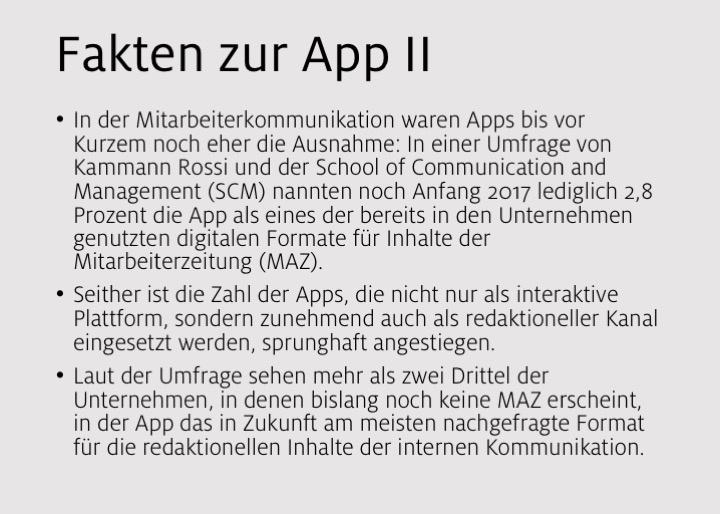 Fakten zur App II
