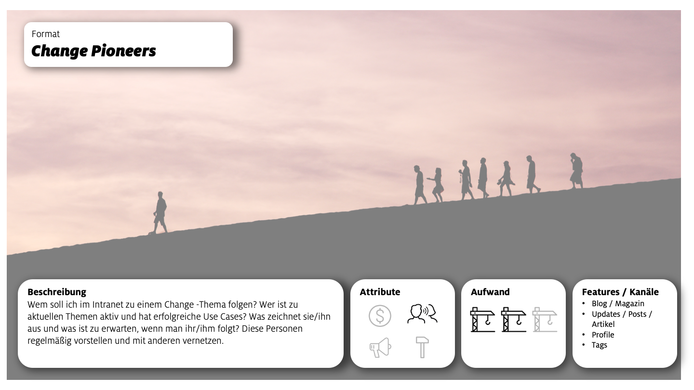 Change Pioneers Formatbeschreibung Interne Kommunikation