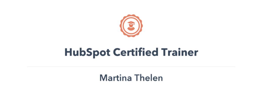 HubSpot Certified Trainer Martina