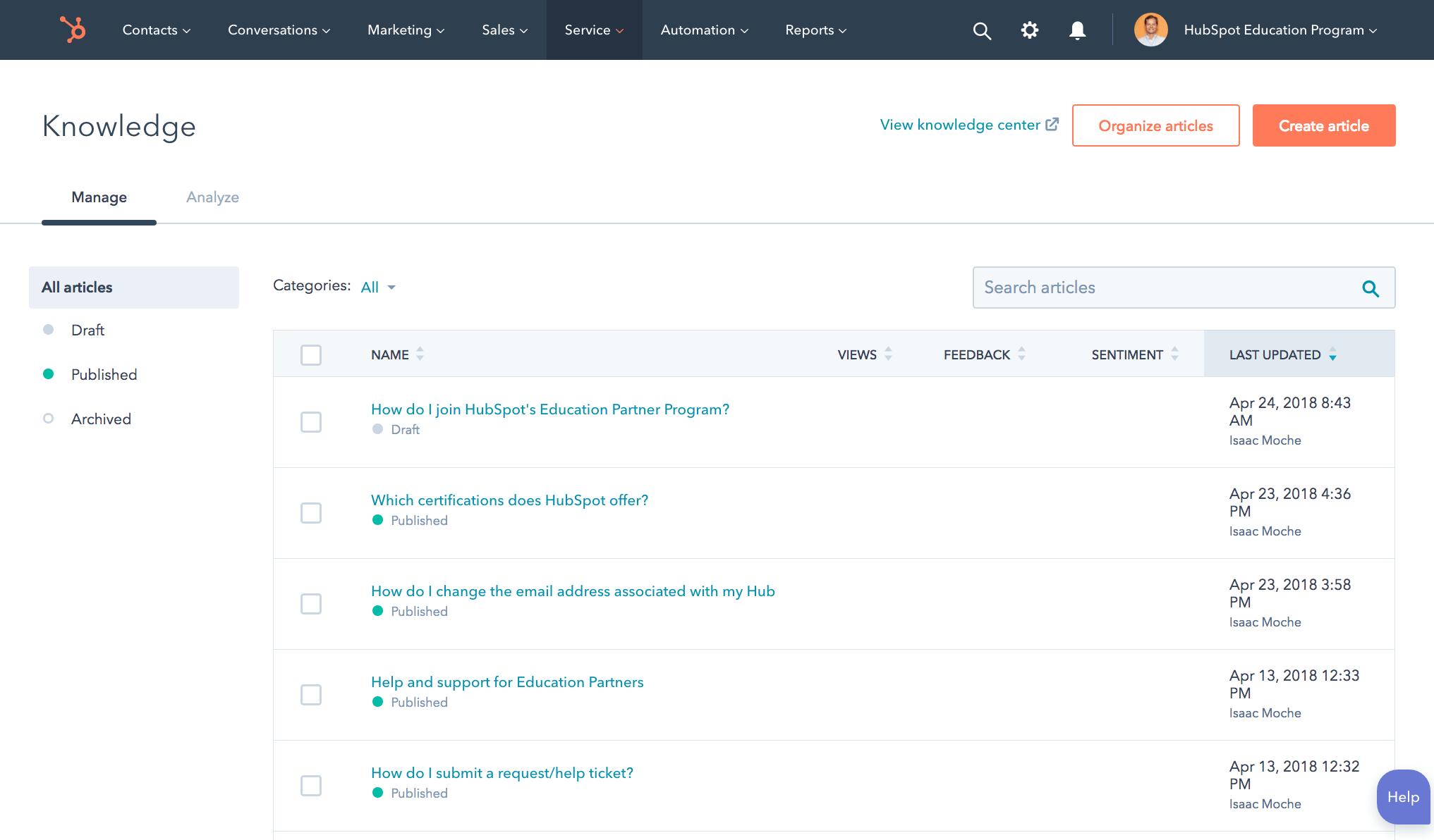 HubSpot_Wissensdatenbank