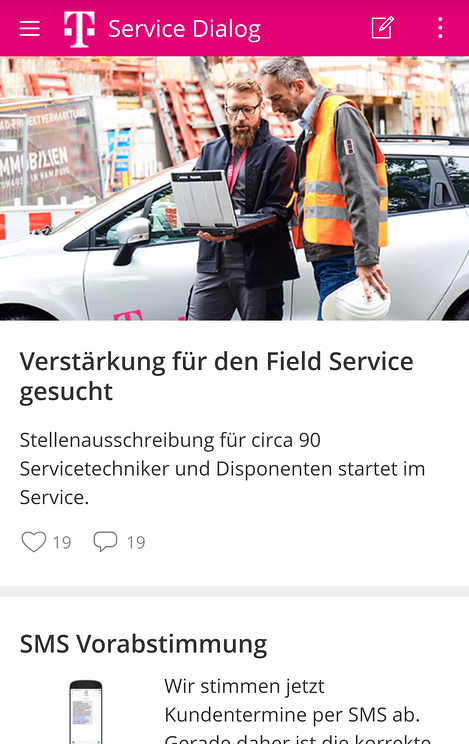 Service Dialog App