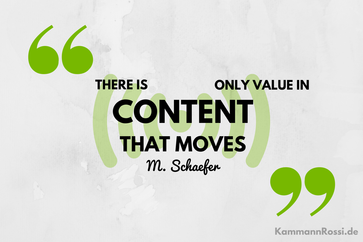 there is only value in content that moves