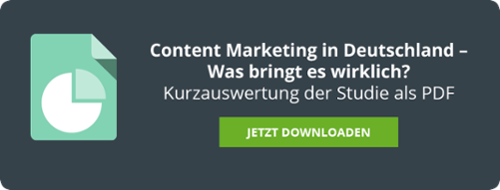 Content Marketing in Deutschland Studie Kurzauswertung