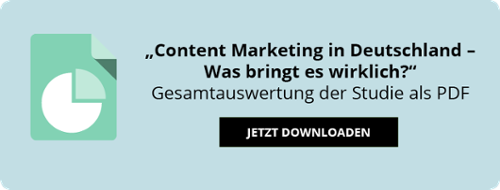 "Studie ""Content Marketing in Deutschland - Was bringt es wirklich?"" Download"