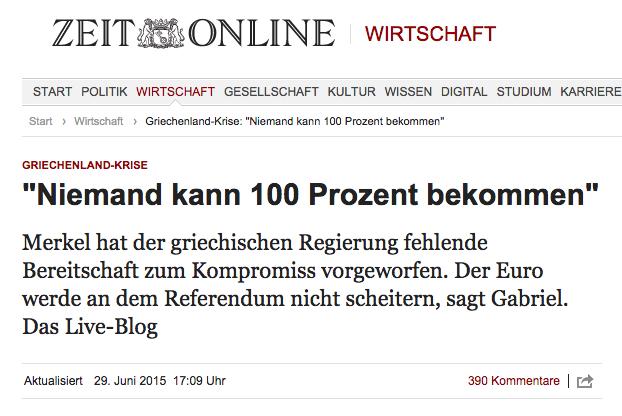 Live-Blog Zeit Online