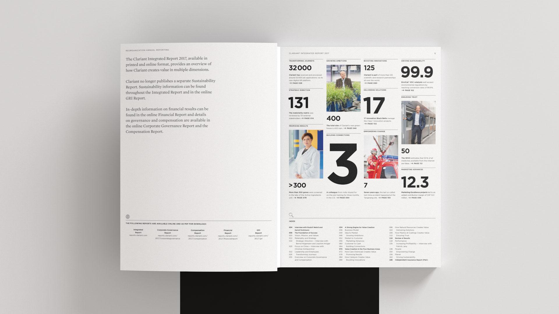 Clariant Integrierter Bericht 2017 Inhaltsverzeichnis