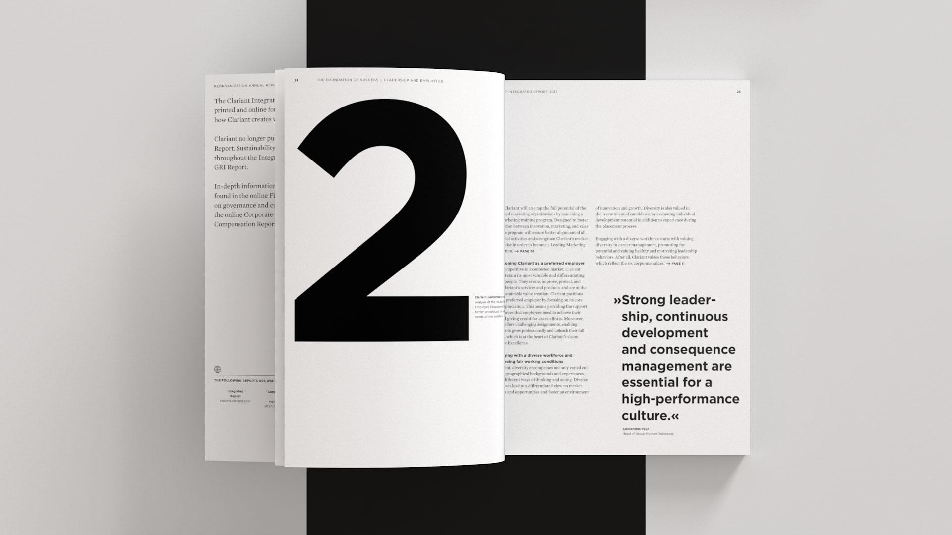 Clariant Integrierter Bericht 2017 Innenseite
