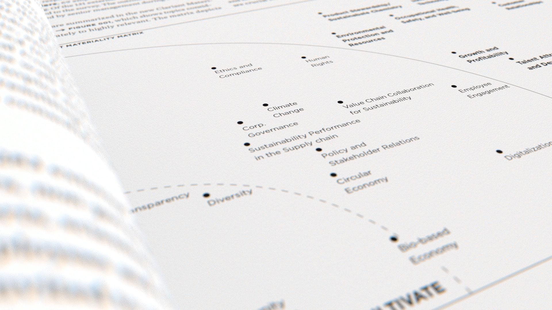Clariant Integrierter Bericht 2017 Materialitäts-Matrix