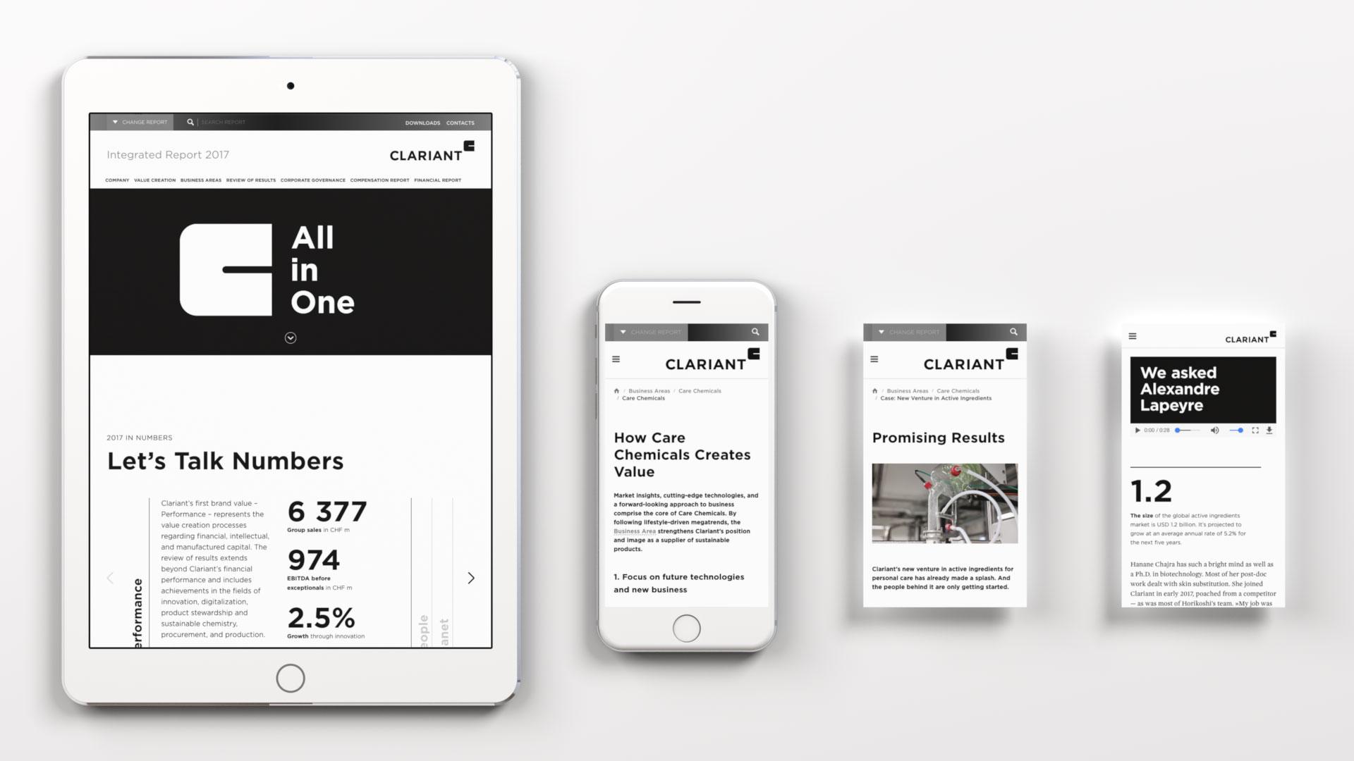Clariant Integrierter Bericht 2017 Online