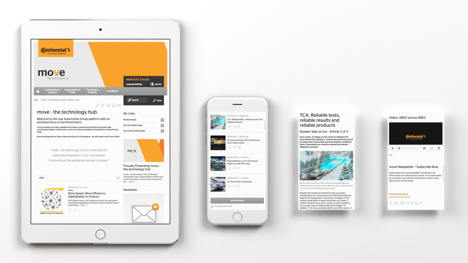 Continental AG / move – the technology hub Website
