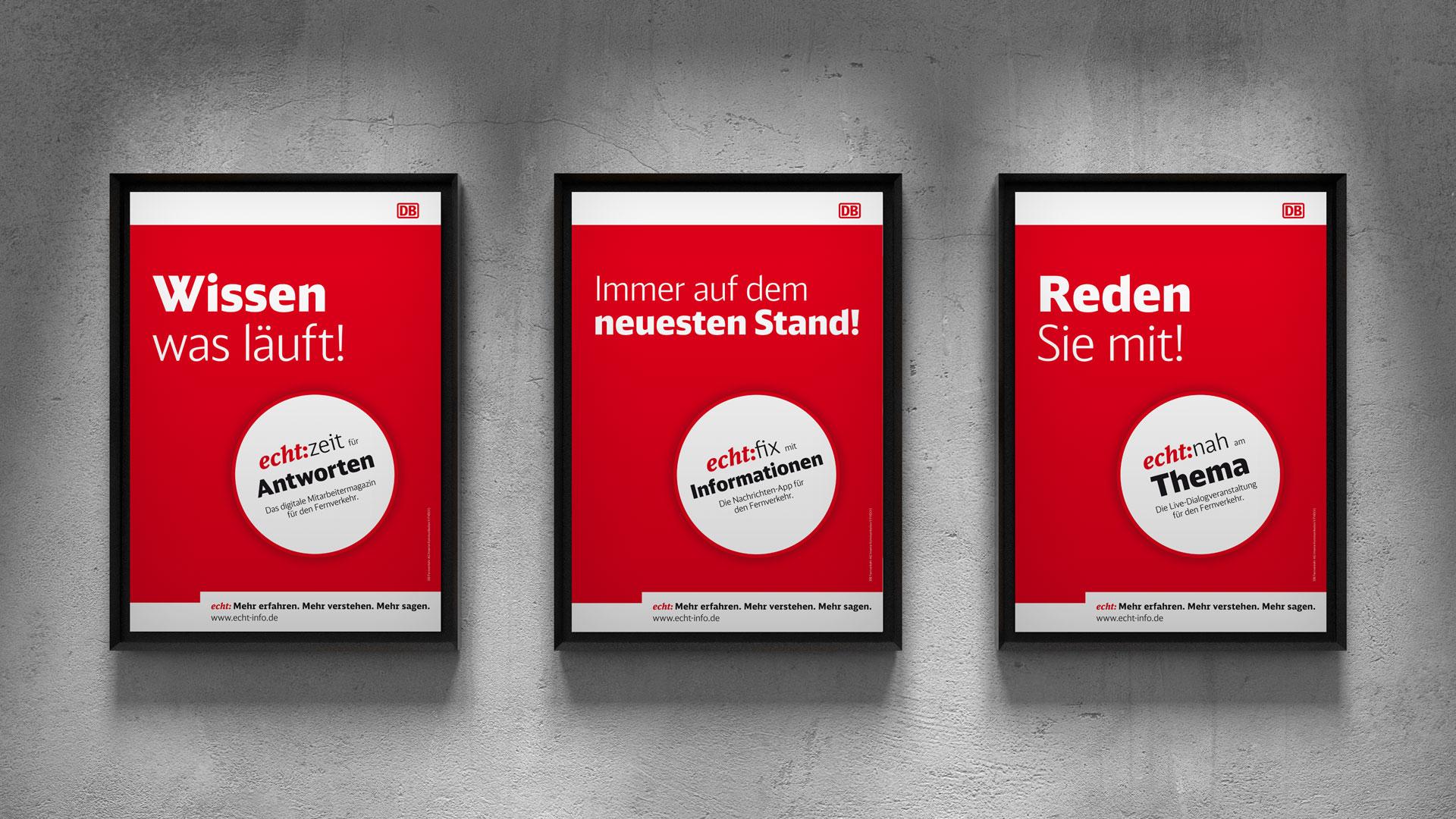 DB-Fernverkehr echt:zeit Poster