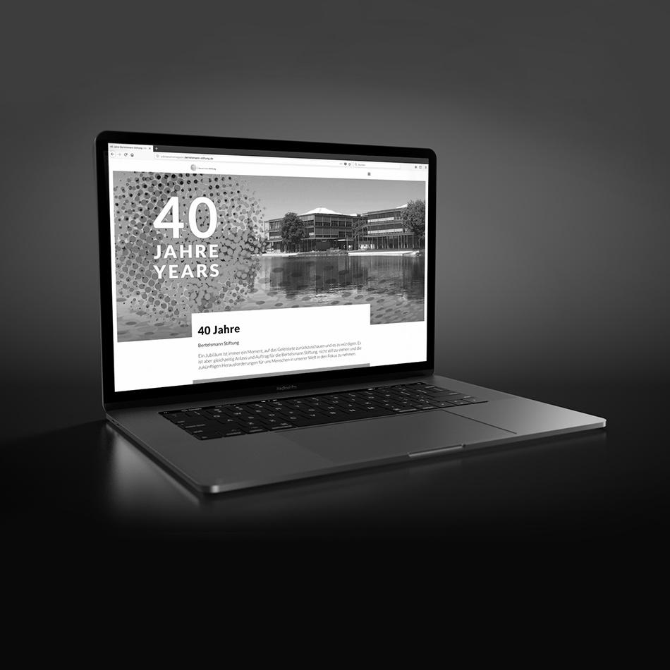 Kammann Rossi – Projekt – Bertelsmann Stiftung - 40 Jahre Jubiläumsmagazin