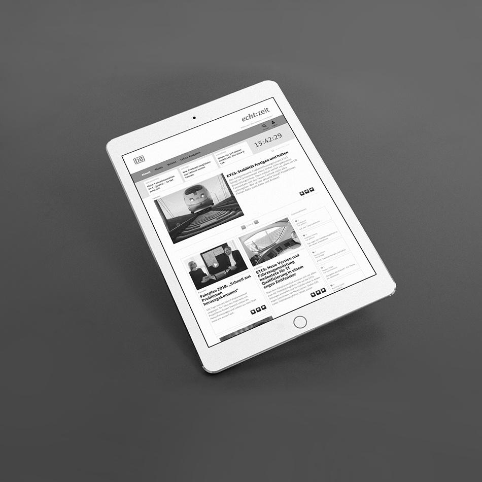 Kammann Rossi – Projekt – DB Fernverkehr echt:zeit – digitales Magazin für Mitarbeiter