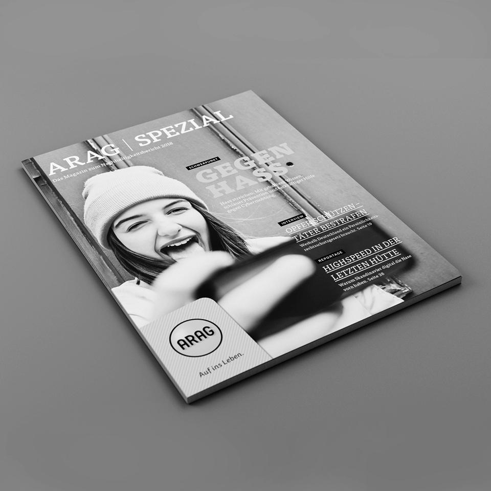 Kammann Rossi – Projekt – ARAG / ARAG Spezial Nachhaltigkeitsbericht