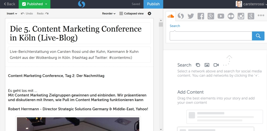 Live Blogging ist Content Marketing & Influencer Relations in Echtzeit